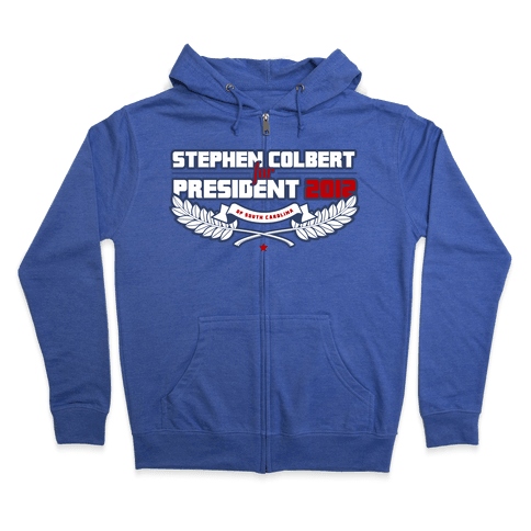 Stephen Colbert for President of South Carolina 2012 Zip Hoodie