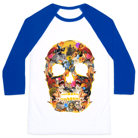 Vintage Skull (Long Sleeve) Baseball Tee