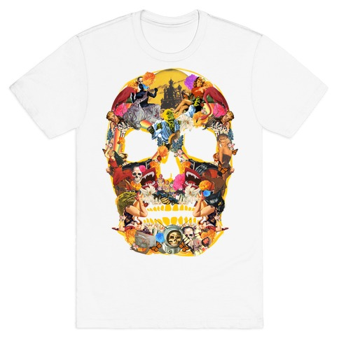 Vintage Skull (Long Sleeve) Mens T-Shirt