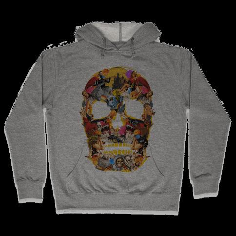Vintage Skull (Long Sleeve) Hooded Sweatshirt