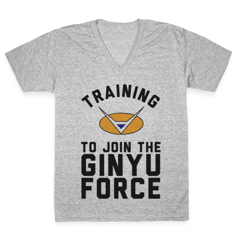 Training To Join The GInyu Force V-Neck Tee Shirt