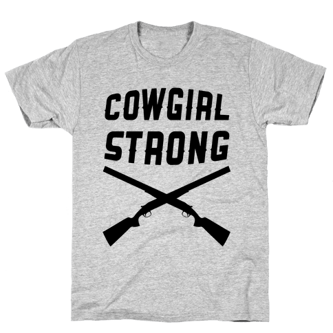 Cowgirl Strong Mens T-Shirt