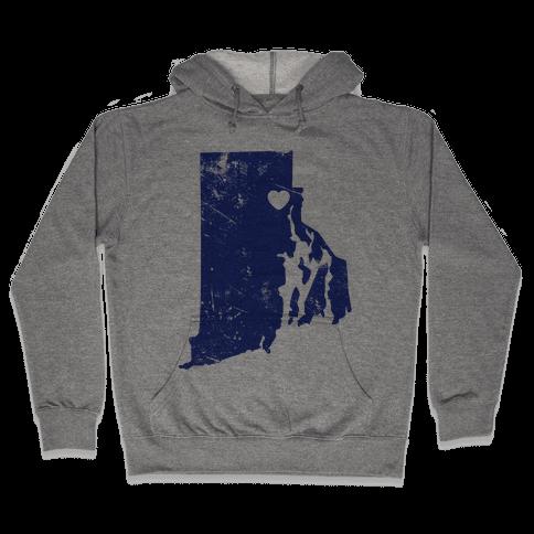 Rhode Island Heart  Hooded Sweatshirt