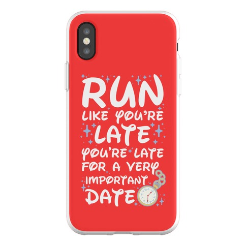 Run like You're Late for a Very Important Date Phone Flexi-Case