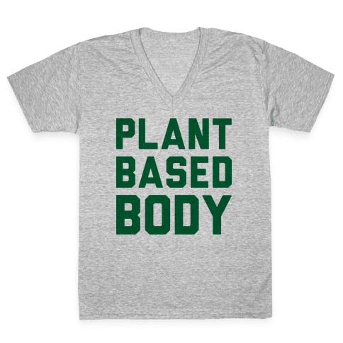 Plant-Based Body V-Neck Tee Shirt