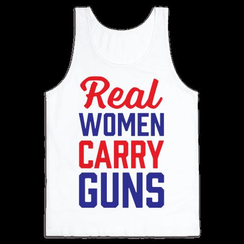 Real Women Carry Guns Tank Top