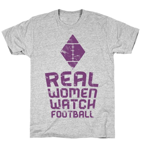 Real Women Watch Football Mens T-Shirt