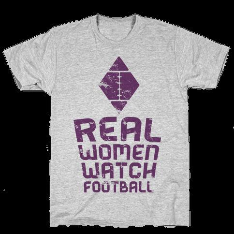 Real Women Watch Football Mens T-Shirt