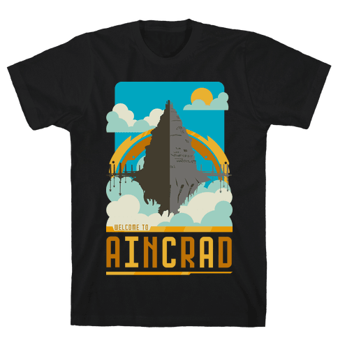 Welcome To Aincrad Mens T-Shirt
