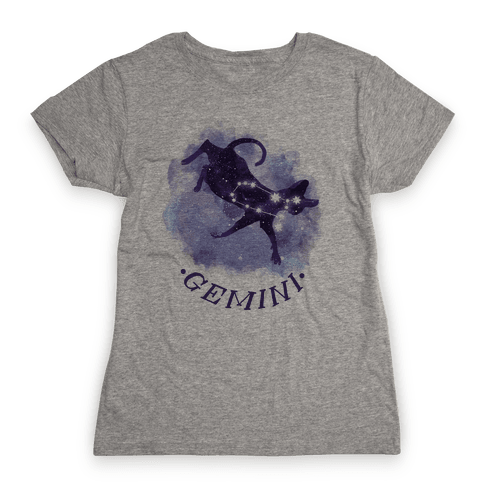 Cat Zodiac: Gemini Womens T-Shirt