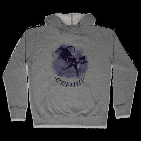 Cat Zodiac: Gemini Hooded Sweatshirt
