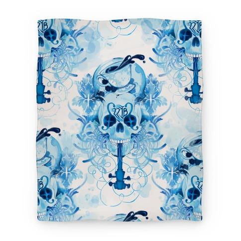 221B Sherlock Skull Blanket