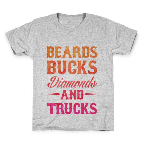 Beards, Bucks, Diamonds and Trucks Kids T-Shirt