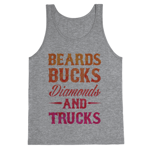 Beards, Bucks, Diamonds and Trucks Tank Top