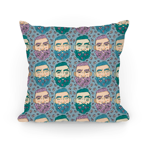 Boys With Beards Pillow