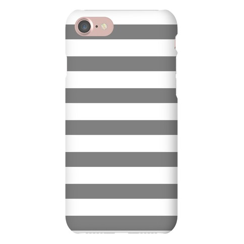 Gray Stripe Pattern Phone Case