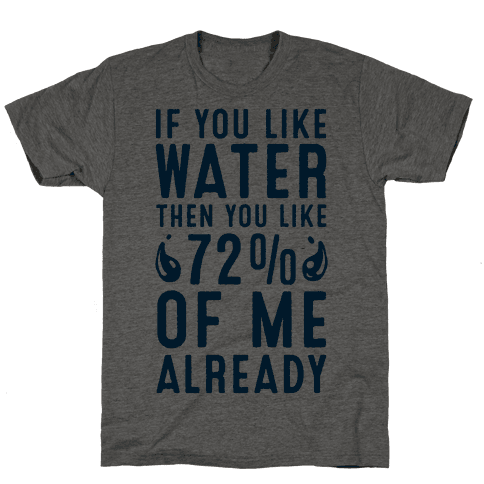 If You Like Water then You Like 72% of Me Already!