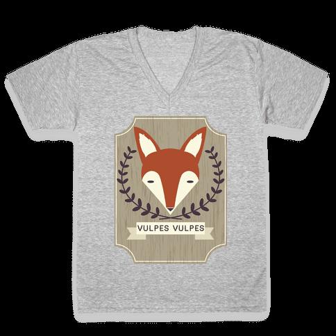 Fox V-Neck Tee Shirt