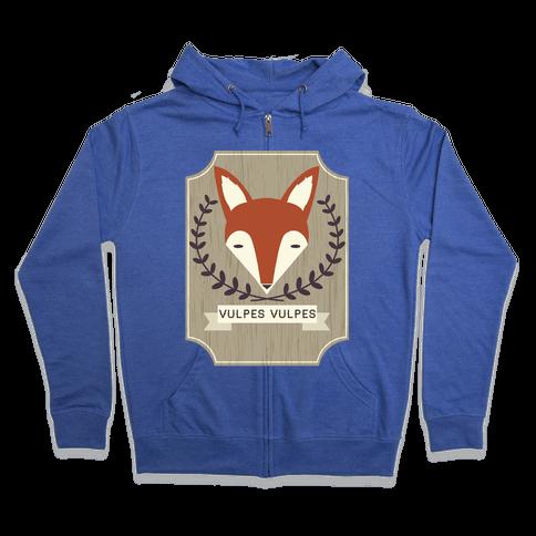 Fox Zip Hoodie