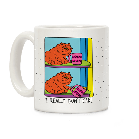 I Really Don't Care Cat Coffee Mug