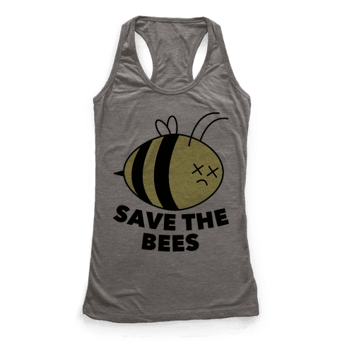 Save The Bees! Racerback Tank Top