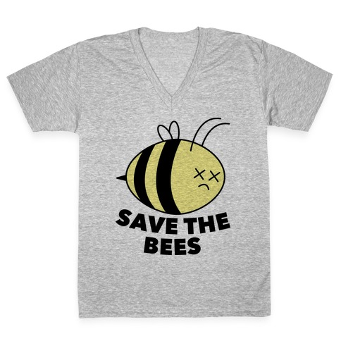 Save The Bees! V-Neck Tee Shirt