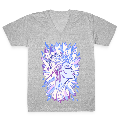 The Snow Queen V-Neck Tee Shirt