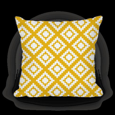 Yellow Tribal Diamond Pattern