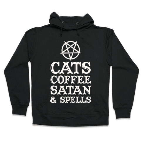 Cats Coffee Satan & Spells Hooded Sweatshirt
