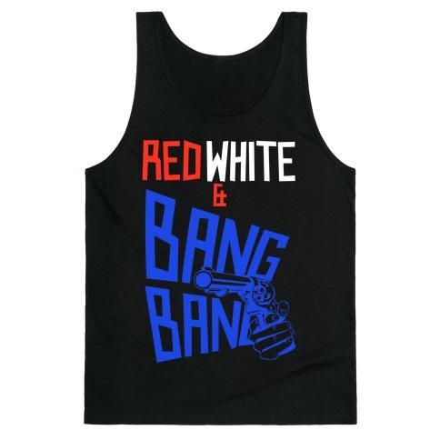 Red White and Bang Bang Tank Top