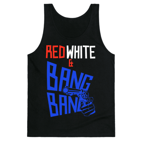 Red White and Bang Bang Tank Top