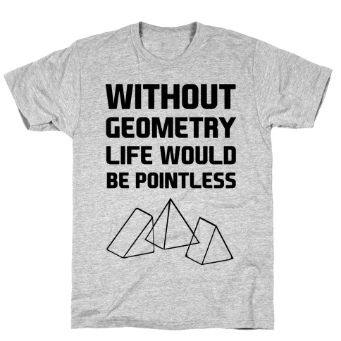 Without Geometry Life Would Be Pointless Mens T-Shirt