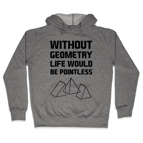 Without Geometry Life Would Be Pointless Hooded Sweatshirt