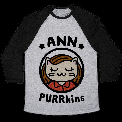 Ann Purrkins Baseball Tee