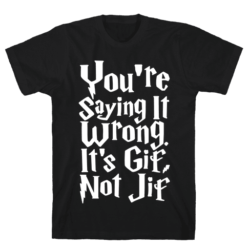It's Gif Not Jif Mens T-Shirt