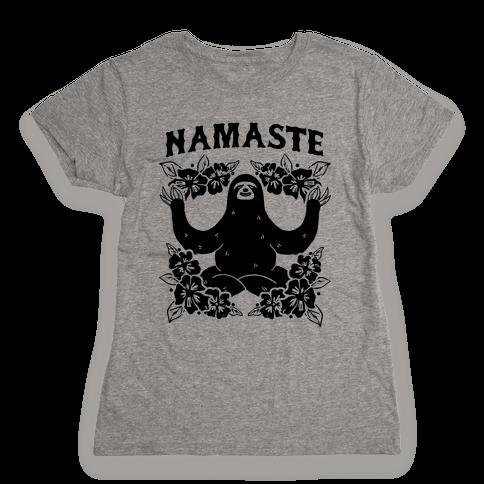 Namaste Sloth Womens T-Shirt