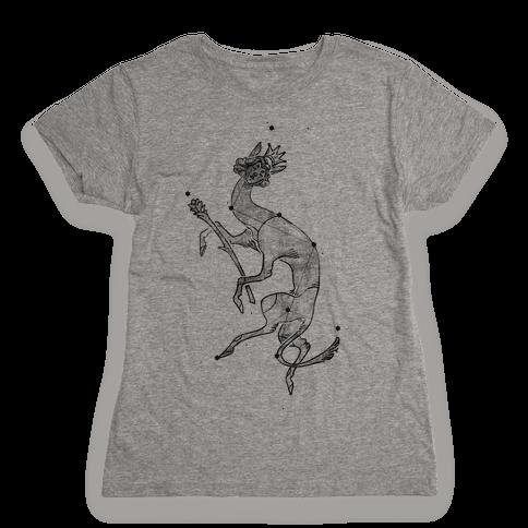 Deer God Stars Womens T-Shirt