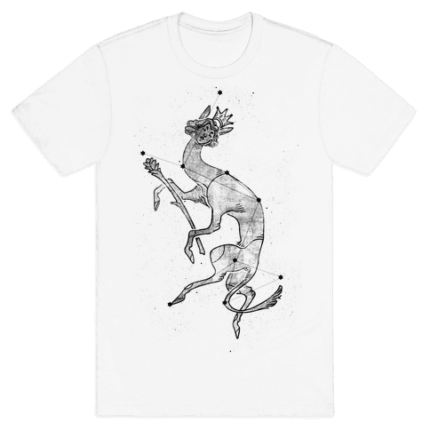 Deer God Stars Mens T-Shirt