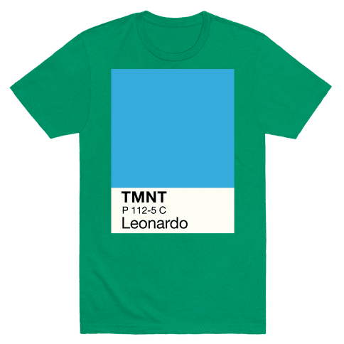 Leonardo Color Swatch Parody Mens T-Shirt