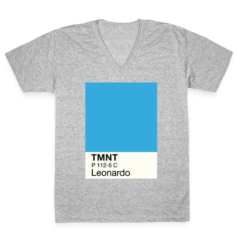 Leonardo Color Swatch Parody V-Neck Tee Shirt