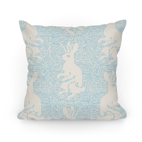 Hidden Jackalope Pillow Pillow