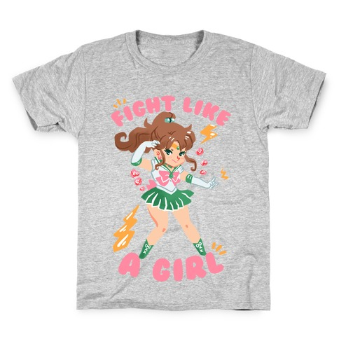 Fight Like A Girl: Jupiter Parody Kids T-Shirt