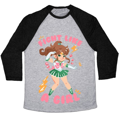 Fight Like A Girl: Jupiter Parody Baseball Tee