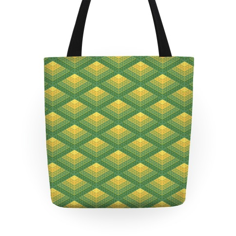 Radiant Fish Scale Pattern Tote