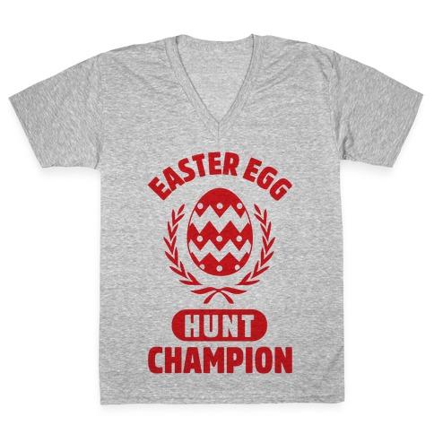 Easter Egg Hunt Champion V-Neck Tee Shirt