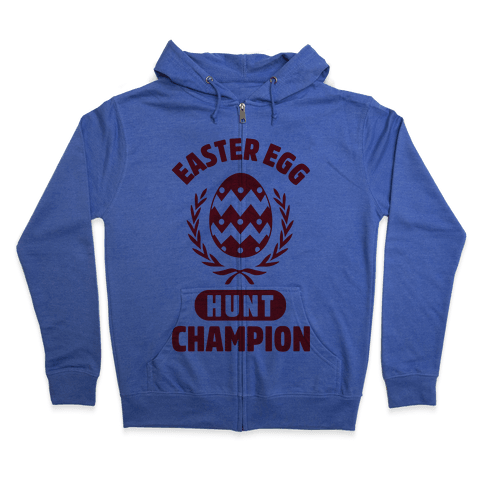 Easter Egg Hunt Champion Zip Hoodie