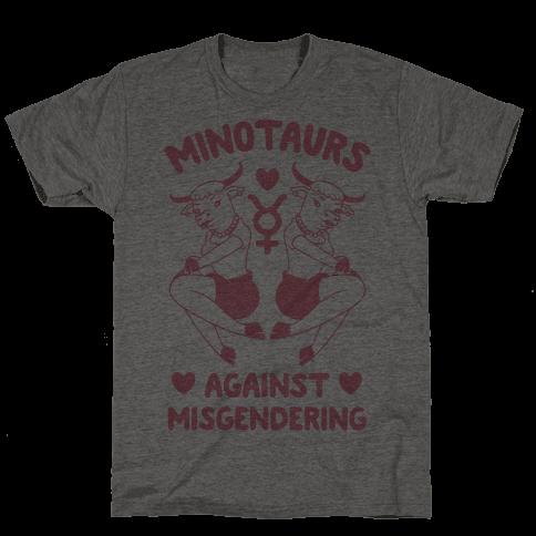Minotaurs Against Misgendering Mens T-Shirt