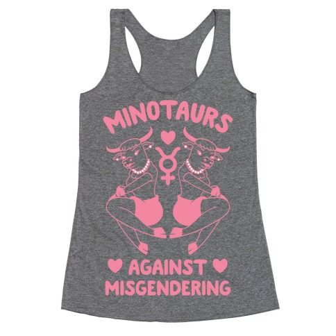 Minotaurs Against Misgendering Racerback Tank Top