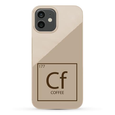 Coffee Periodic Element Phone Case