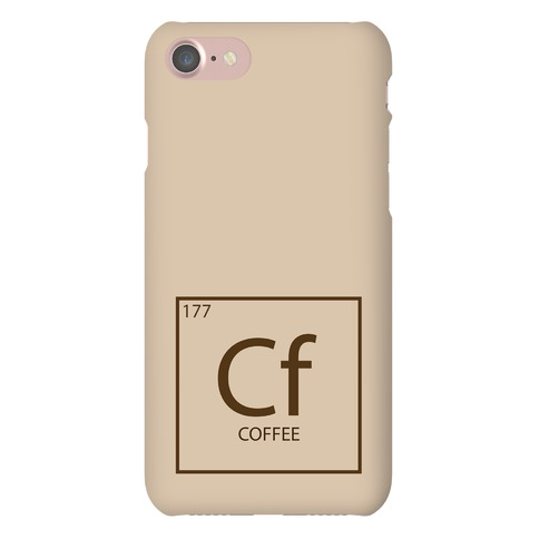 Coffee Periodic Element Phone Case